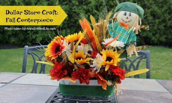 Dollar Store Craft: Fall Centerpiece