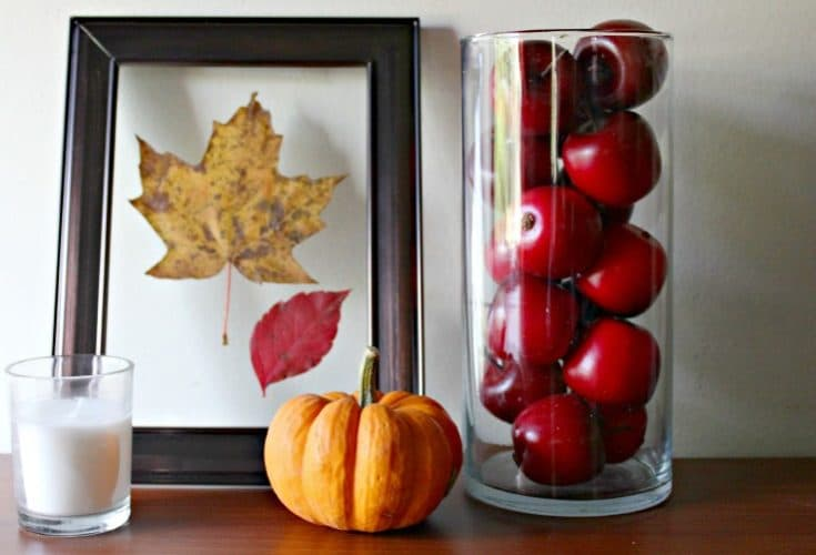 Easy Pressed Leaves Fall Framed Art in 5 Minutes