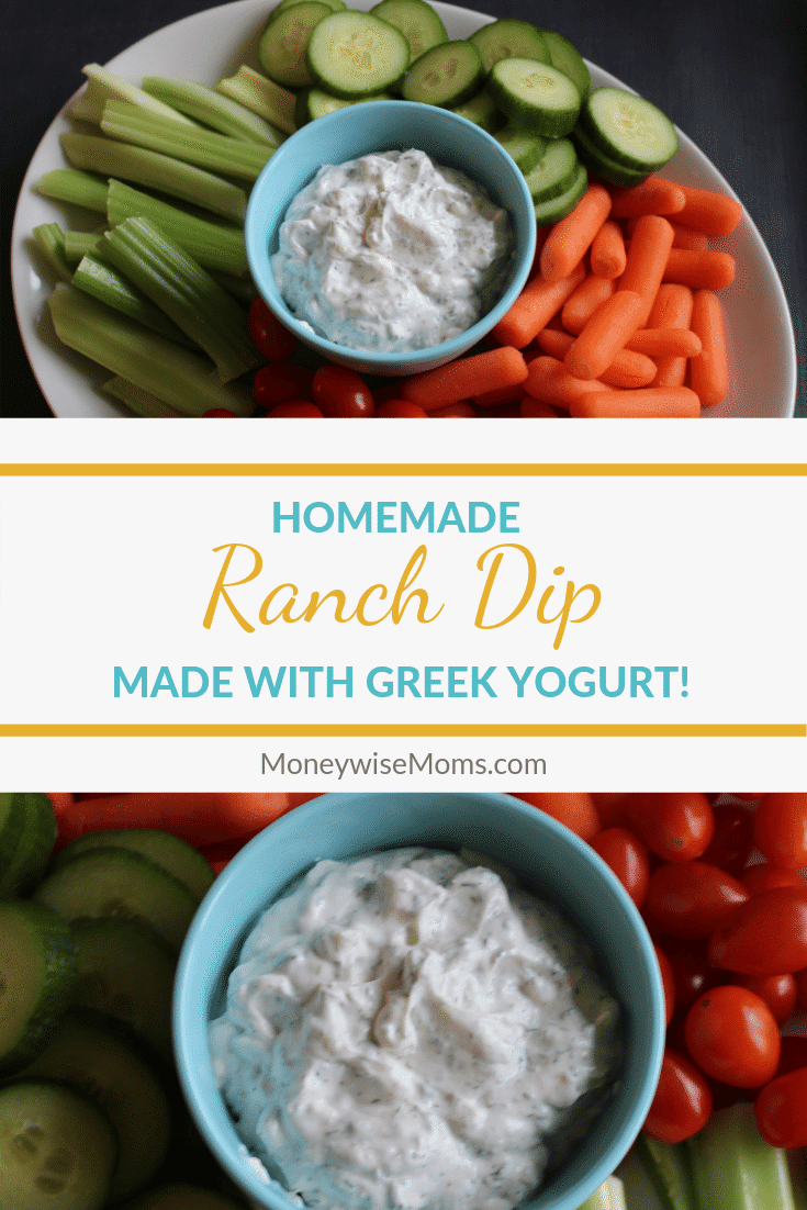 Making ranch dip with Greek yogurt is easier than you think! You can whip up with dip with things you already have on hand, no packet mixes needed! My homemade ranch dip is easy, healthy, and Weight Watchers friendly.