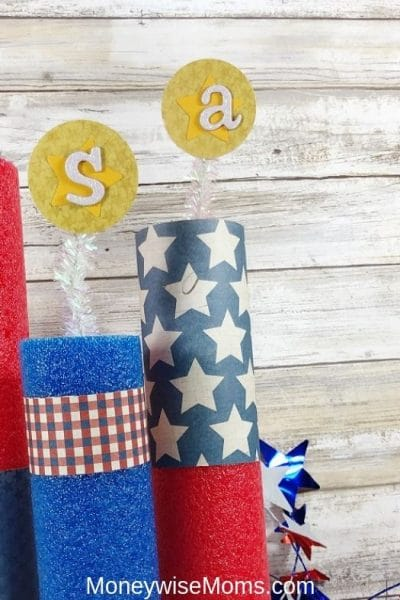 Make Pool Noodle Fireworks for 4th of July