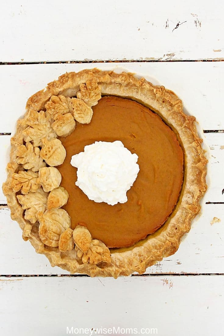Making homemade pumpkin pie from scratch is not as difficult as you might think. My from scratch pumpkin pie calls for canned pumpkin but you can use fresh pumpkin as well! There's nothing better than a homemade pumpkin pie and this recipe is always a crowd pleaser!