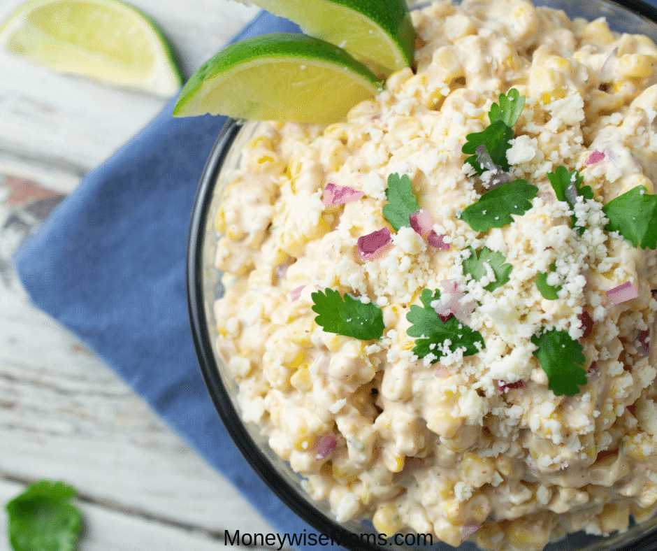 You don't have to travel to Mexico to enjoy the flavors of Elote! You can get all the delicious flavors and textures right here in this Mexican street corn salad recipe. My elote salad recipe is quick, easy, and bursting with flavor. Makes a great side dish and stands out at any party or backyard BBQ!