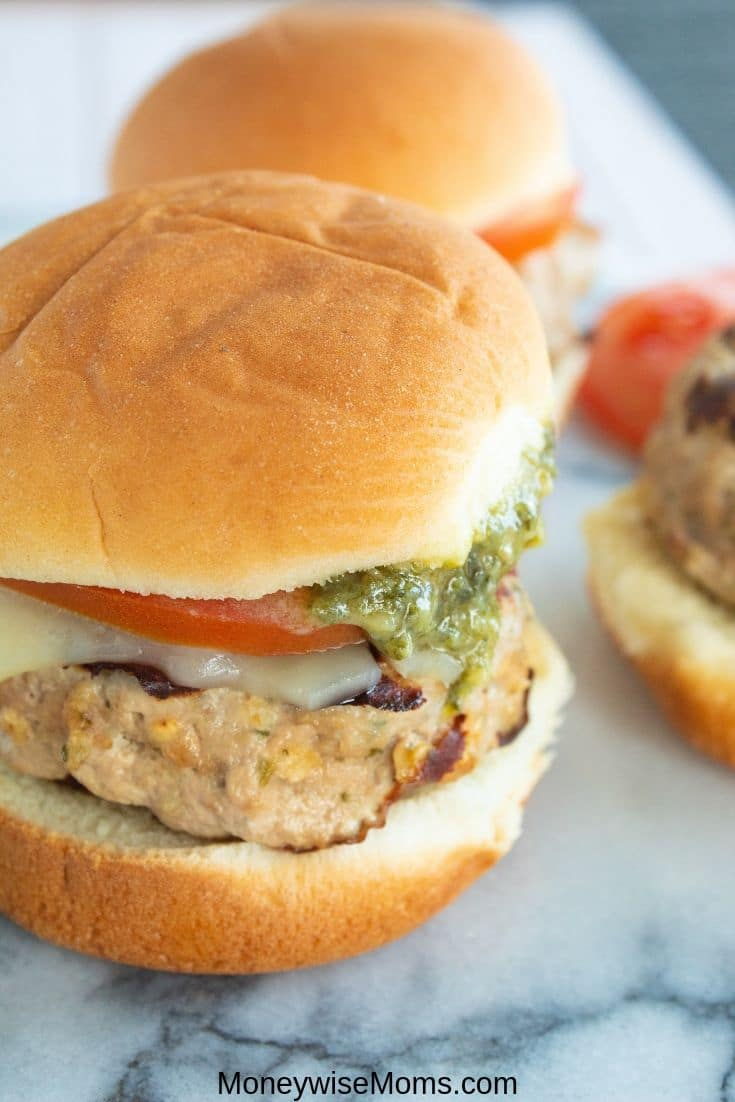 Making turkey sliders for dinner is so much fun. These pesto turkey sliders are a great meal prep recipe as well. They hold up well for leftover throughout the week and you can serve them up for parties and events. This versatile recipe will be a fast favorite for the whole family.