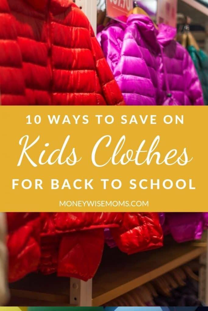 Save on kids clothing