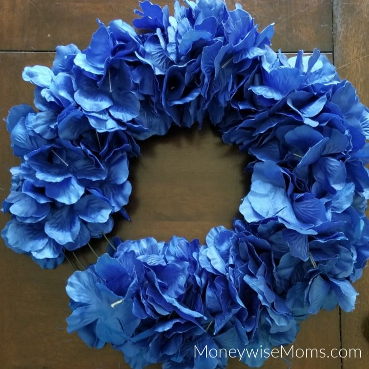 Summer Wreath three fourths full