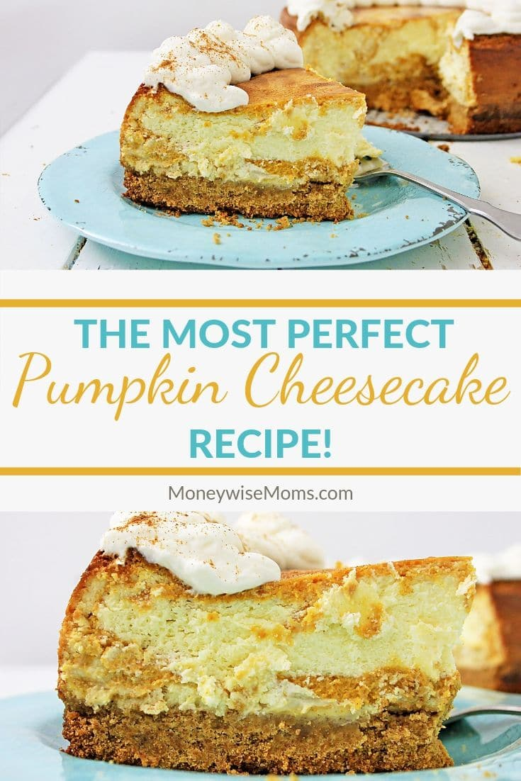 This Pumpkin Cheesecake is so delicious, everyone will definitely be a fan. It's rich and creamy, and the Pumpkin pie filling that's swirled into it just sets it apart. It has an easy graham cracker crust, goes together quickly, bakes beautifully, and you'll be the dessert expert when you serve this to guests, family, or for a little piece of late night wonderful.