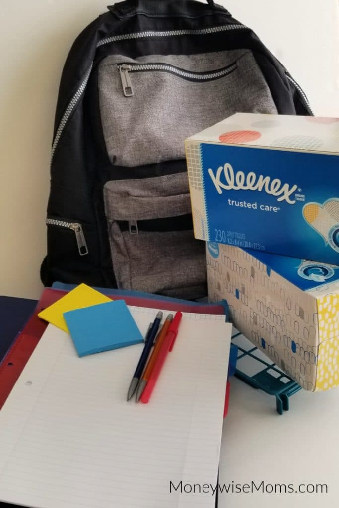 Back to school shopping with Kleenex Tissues