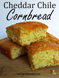 Cheesy Green Chile Cornbread Recipe from Scratch