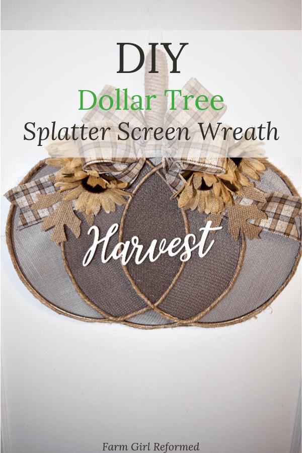 DIY Dollar Tree Splatter Screen Wreath