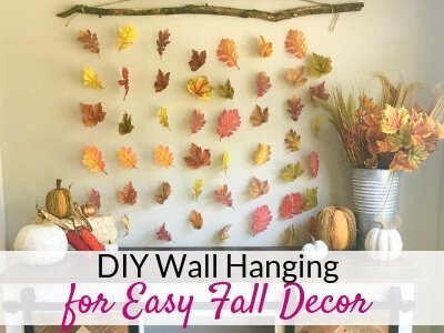Easy DIY Wall Hanging for Fall Wall Decor