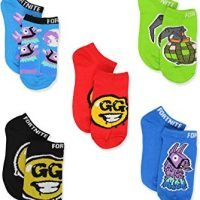 Fortnite Battle Royale Gamer Boy's Girl's Teen Adult 5 pack No Show Socks
