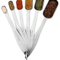 Spring Chef Heavy Duty Stainless Steel Metal Measuring Spoons, Set of 6