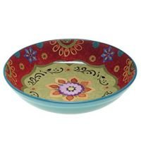 Tunisian Sunset Serving/Pasta Bowl, Multicolor