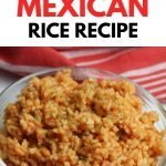 Mexican rice in glass bowl with instant pot