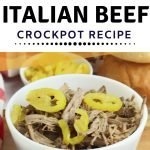Shredded beef, Italian style in the crockpot for sandwiches