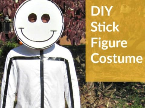 DIY Halloween Costume Stick Figure