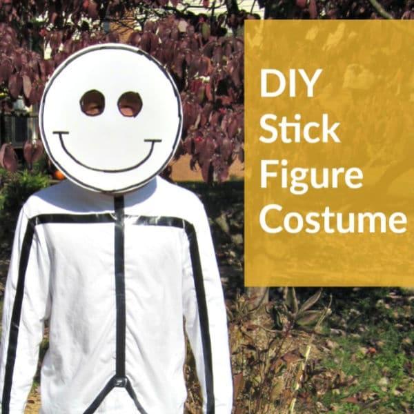 DIY Halloween Costume Stick Figure