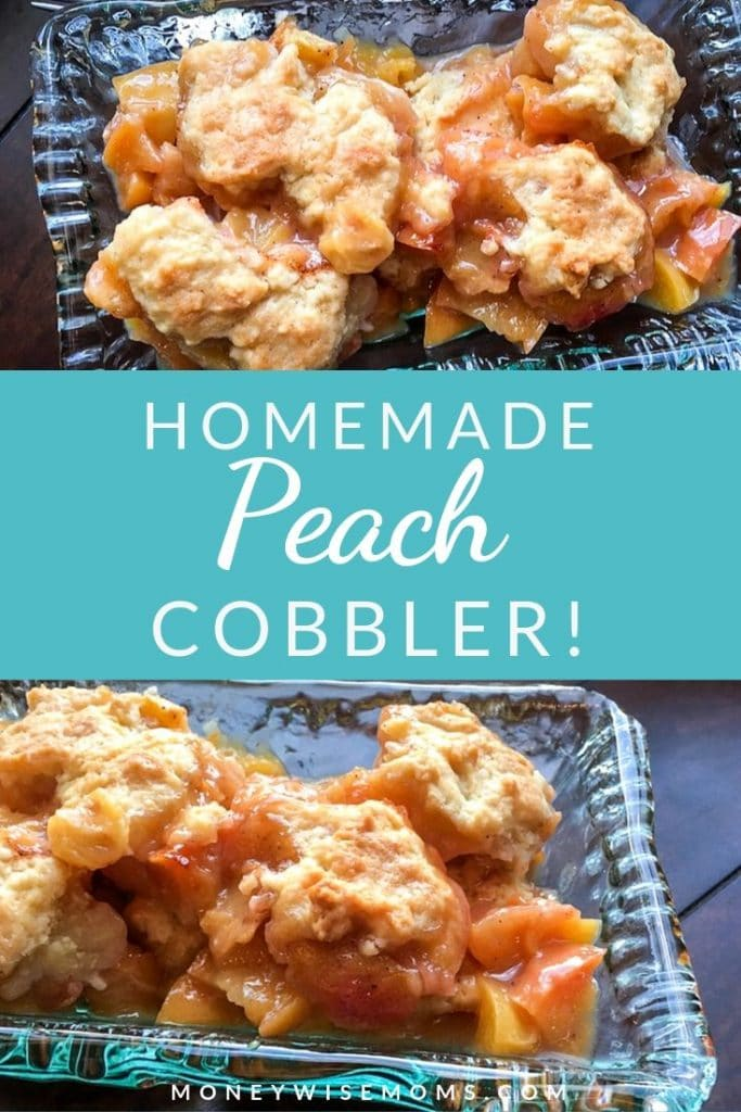 Making a homemade peach cobbler is easier than you might think! This delicious dessert recipe is simple, ready in 40 minutes, and perfect for parties!