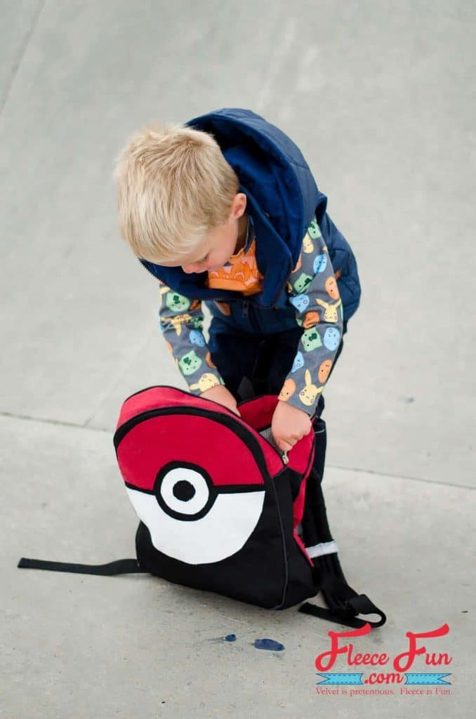 Pokemon Backpack from Fleece Fun - DIY Pokemon Gifts