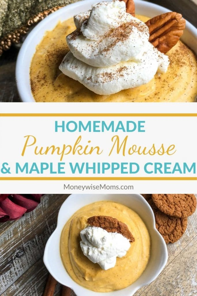 When falls rolls around we can't get enough pumpkin flavored desserts. Here is a great recipe for pumpkin mousse with maple whipped cream that the whole family will love.