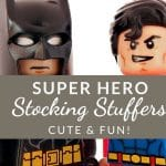 Christmas is coming! If you have a superhero fan in the house (or a whole house of them, like I do), then these Superhero Stocking Stuffers are just what you need to finish off that shopping list!