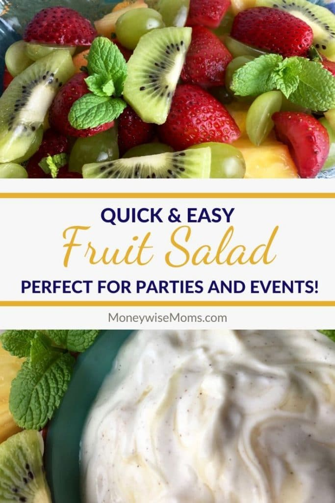 An easy recipe for fruit salad is great for parties and events but it is also a great way to get your family to eat more fruit! There's just something about fruit salad that makes eating fruit more appealing.