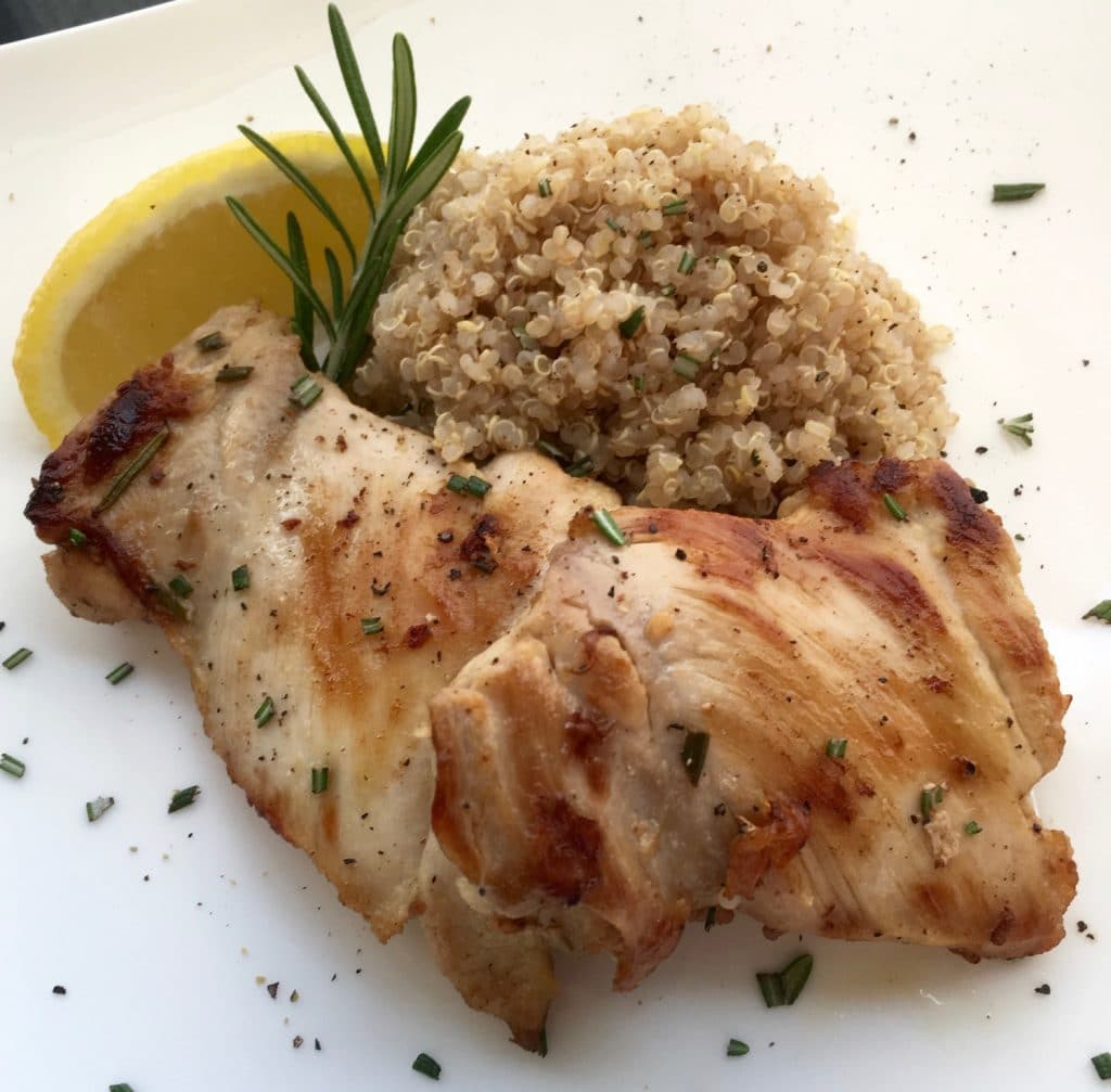This quick and easy lemon rosemary chicken recipe is perfect for hectic weeknight meals. Featuring a classic blend of lemon, garlic, and rosemary, this dish doesn't need a lot of fancy ingredients to deliver robust flavor.
