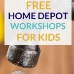 Free workshops for kids at Home Depot
