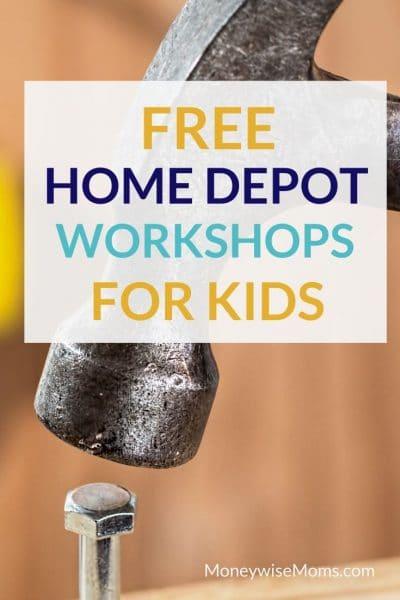 Free Home Depot Kids Workshops in 2020