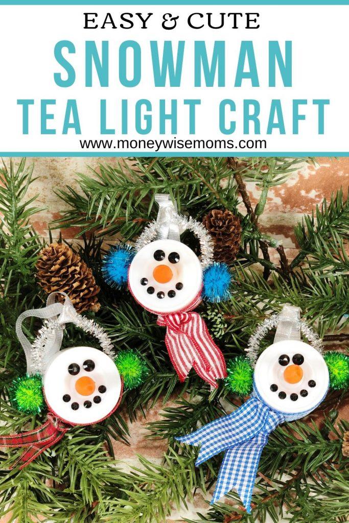 Tea Light Snowman Ornament - winter crafts