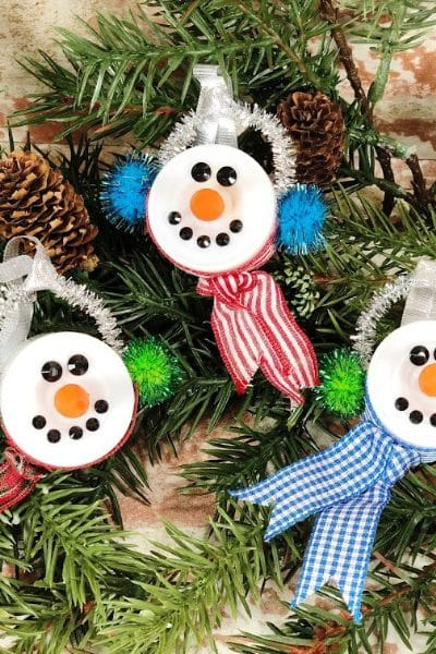 Adorable Snowman with Tea Light Ornament