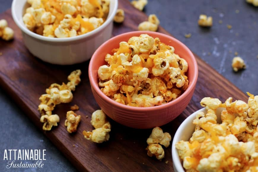 Cheddar Popcorn from Attainable Sustainable