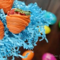 """Chocolate Covered Strawberry """"Carrots"""" for Easter"""