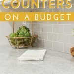 Frugal home improvement tips to update your kitchen counters on a budget