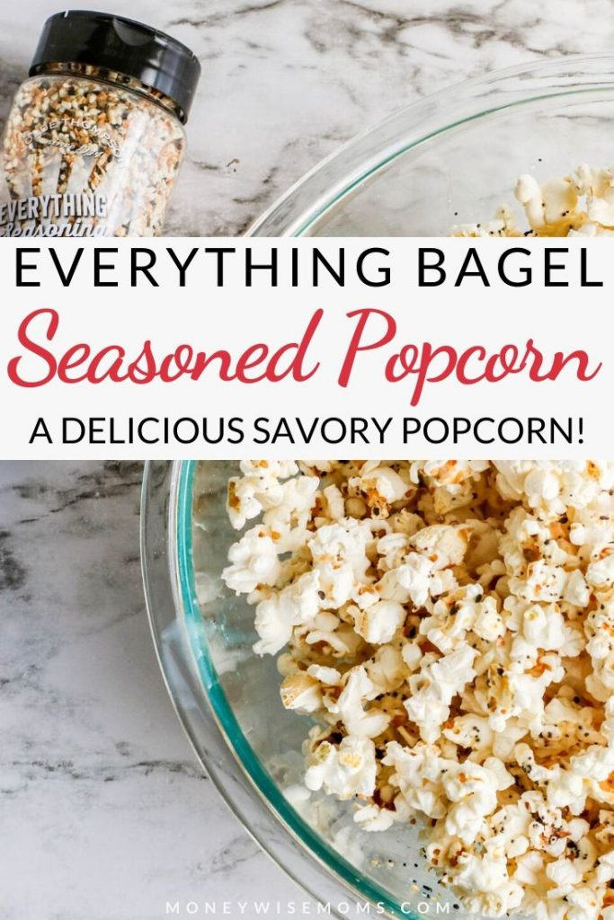 Delicious and easy everything bagel seasoning popcorn.
