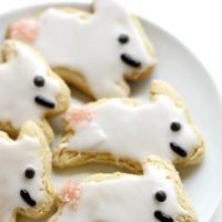 Gluten-Free Easter Bunny Cut-Out Sugar Cookies