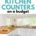 How to freshen up your kitchen counters on a budget