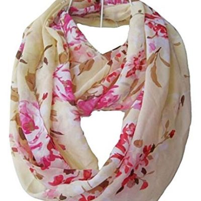 Multicolor Floral Print Infinity Scarf