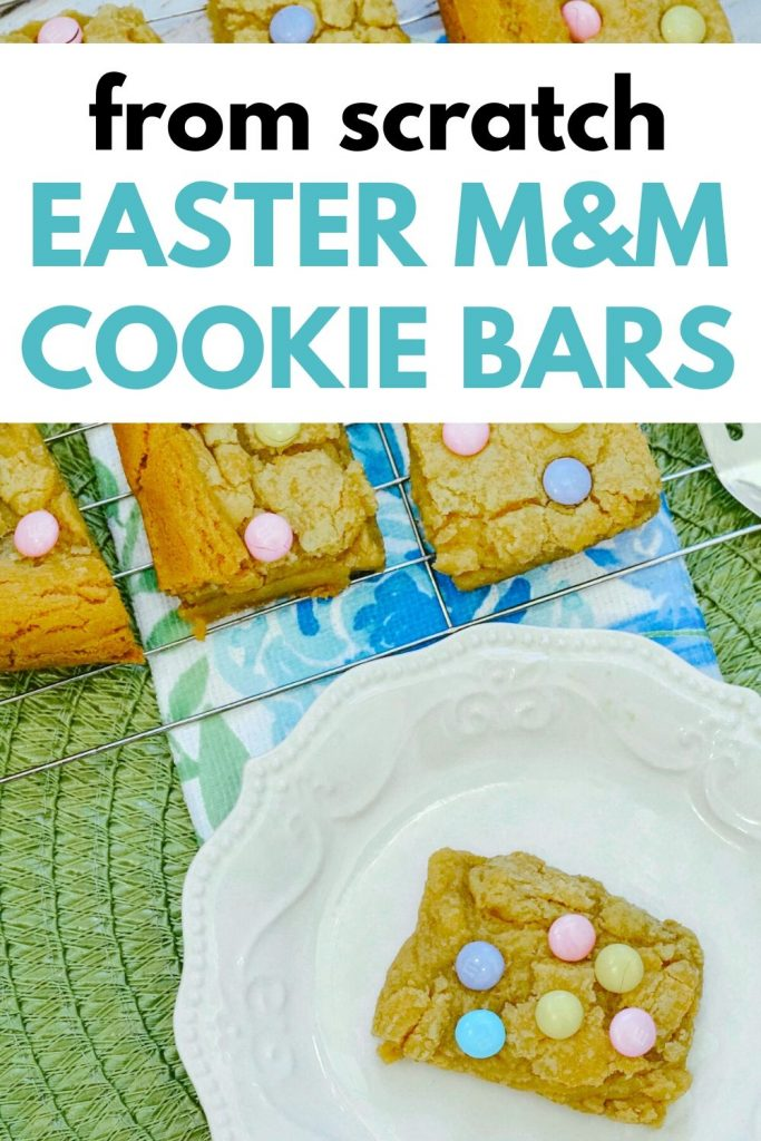 Easy recipe for homemade vanilla cookie bars - perfect Easter Treat!