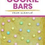 M&M Vanilla Cookie Bars - easy Easter treat