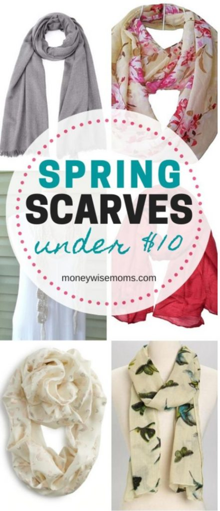 Pretty spring scarves that cost less than 10 dollars
