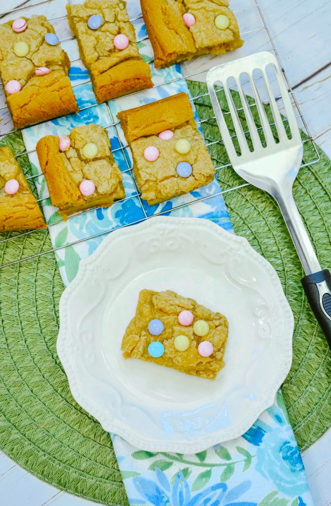 Make these M&M Cookie Bars from scratch for your next holiday party