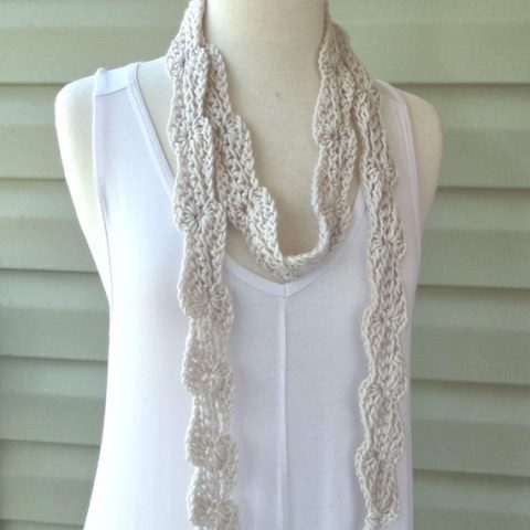 Long Skinny Crochet Scarf - Choose Your Color