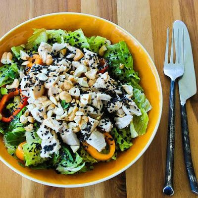 Leftover Chicken Low-Carb Asian Chopped Salad