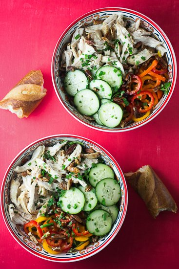 Chicken Cucumbers and Sweet Peppers Salad