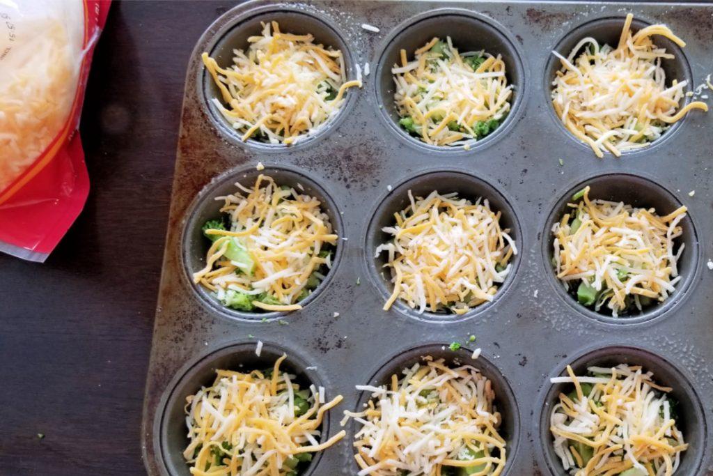 Sprinkle cheese on top of vegetables