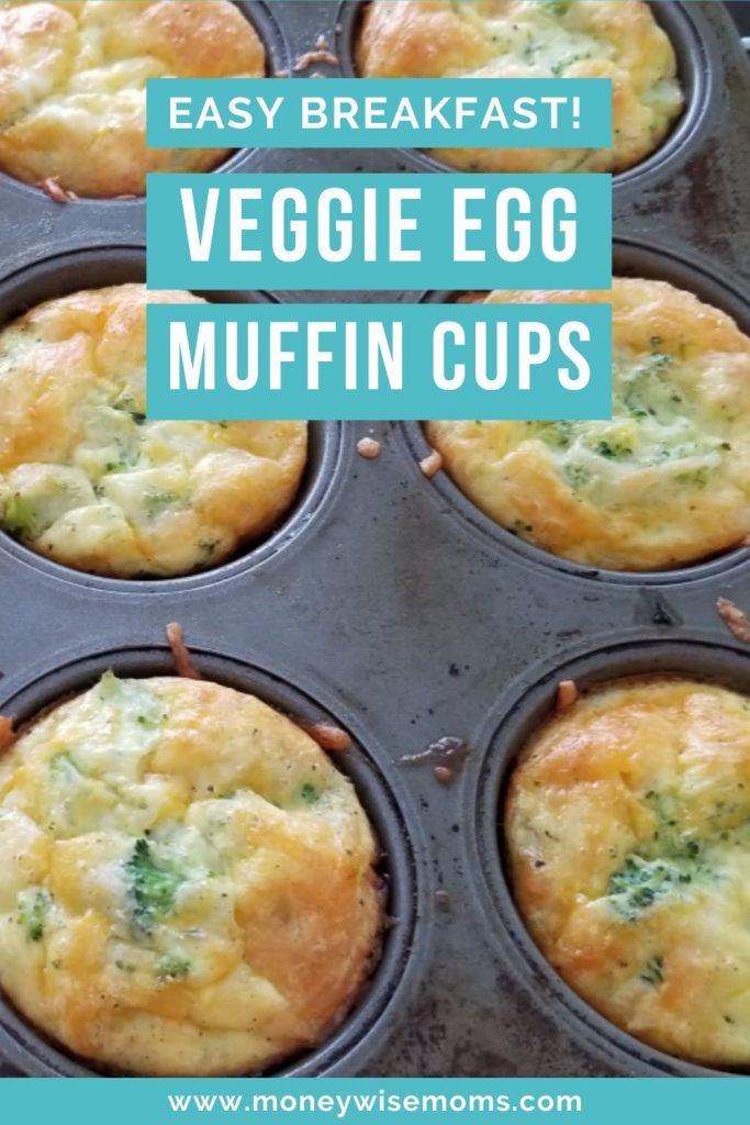 Easy breakfast on the go - make egg muffin cups with vegetables for a healthy meal