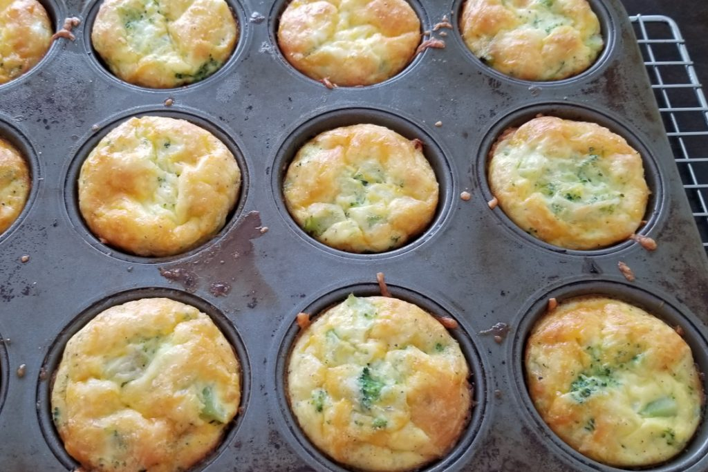 Let egg muffin cups cool on baking rack before removing from pan