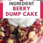 Berry dump cake on a plate
