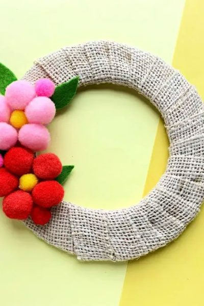 Pom Pom Wreath Mother's Day Gift